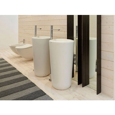 Cielo FLUID freestanding room center sink FLFREEC