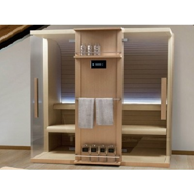 HAFRO CUNA SERIES SAUNA 120X92XH.204 CORNER/WALL VERSION SX