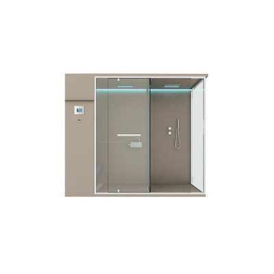HAFRO ETHOS SERIES HAMMAN WITH INTEGRATED SHOWER+SHOWER SPACE 242X150XH.215 WALL VERSION SX