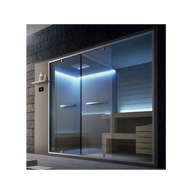 HAFRO ETHOS SERIES HAMMAN WITH INTEGRATED SHOWER+SAUNA 310X150XH.215 CORNER/NICHE VERSION SX