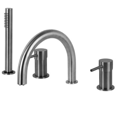 Fima Spillo Steel Deck Mounted Tub Tap F3074