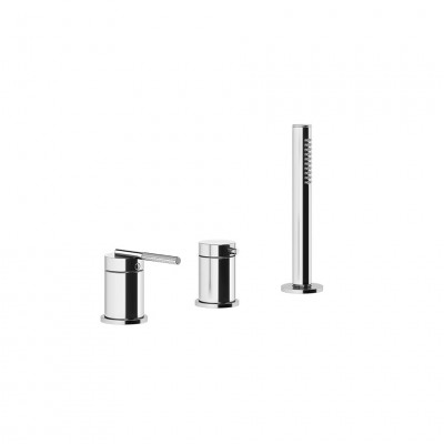 Gessi Ingranaggio 3 hole deck-mounted tub group 63547