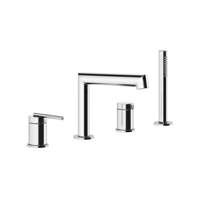 Gessi Ingranaggio 4 hole deck-mounted tub group 63537