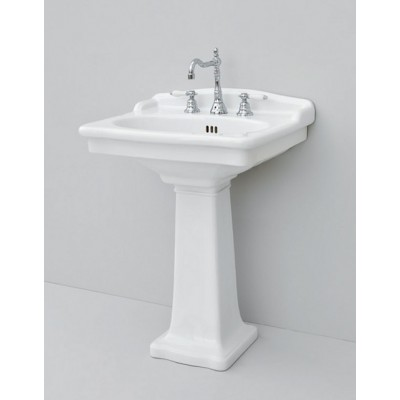 Artceram Hermitage 68 wall-hung sink1 hole in ceramic HEL002 01;00