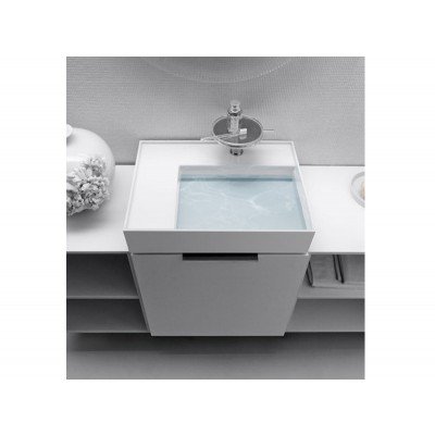 Kartell by Laufen white on top sink with right shelf 8.1033.4.000