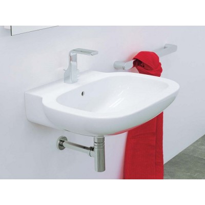 Flaminia Sprint 64 wall hung or suit on pedestal sink in ceramic SR64L