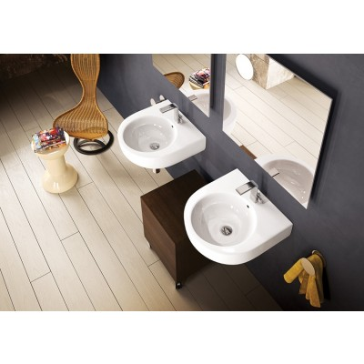 Flaminia Pass 50 bench-wall-hung sink in ceramic PS50L