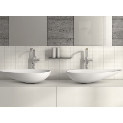 Planit Wing countertop sink 68x35x13cm in Corian WING