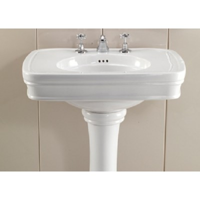 Devon&Devon Rose Washbasins washbasin on pedestal IBLG(1-2-3)FROSE