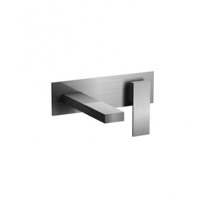 Fantini Mint Acciaio wall-mounted sink tap F810B+M011A
