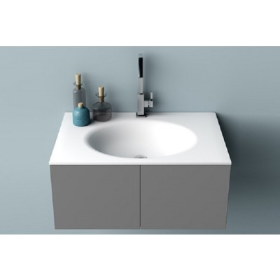 Planit Smooth bathroom top with thermofored sink in Corian Glacier SMOOTH 1