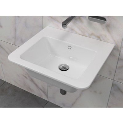 Flaminia Volo 52 bench-wall hung sink in ceramic VL52L