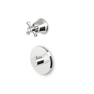 "Zucchetti Delfi 3/4"" built-in thermostatic shower tap stop valve Z46077+R99630"
