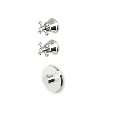"Zucchetti Delfi Mixers 3/4"" built-in thermostatic shower tap with 2 stop valves Z46091+R99631"