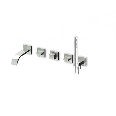 Zucchetti Aguablu Mixers Built-in bath-shower mixer ZA5745+R99505