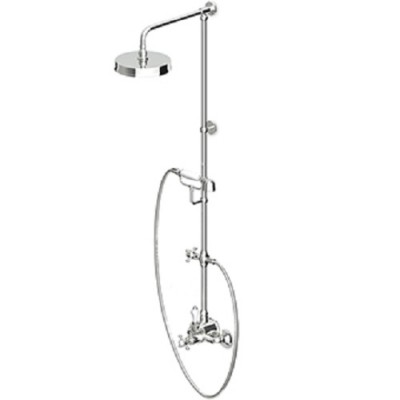 Zucchetti Agorà shower column with exposed thermostatic tap ZAG865