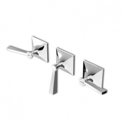 Zucchetti Bellagio 3 hole built-in bath-shower tap ZB2695+R99508