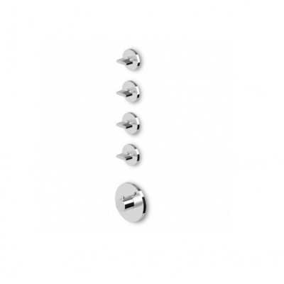 "Zucchetti Isyfresh 3/4"" built-in thermostatic shower tap ZD4097+R99793"