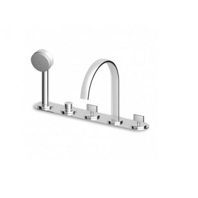 Zucchetti Isyfresh 5 hole bath-tap with fixed spout ZD4447
