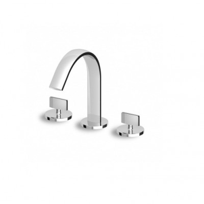 Zucchetti Isyfresh 3 hole bidet mixer with fixed spout ZD4653