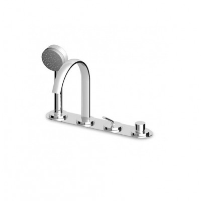 Zucchetti Isyfresh 4 hole bathtub single lever tap ZP2169