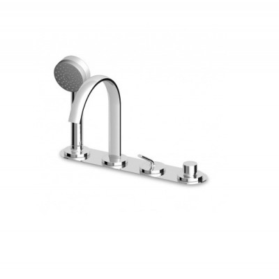 Zucchetti Isyfresh 4 hole bathtub single lever mixer ZP2176