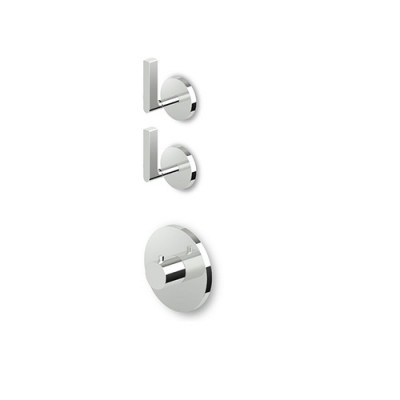 "Zucchetti Simply Beautiful 3/4"" built-in thermostatic shower tap with 2 stop valves ZSB5091+R99631"