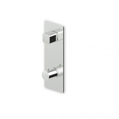 "Zucchetti Jingle 3/4"" built-in thermostatic shower tap with stop valve ZT2977+R99630"