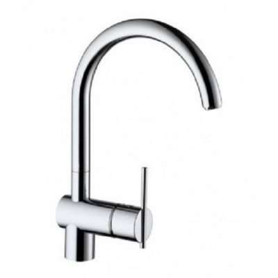 Zucchetti Kitchen single lever sink spin tap with swivel spout ZX3370